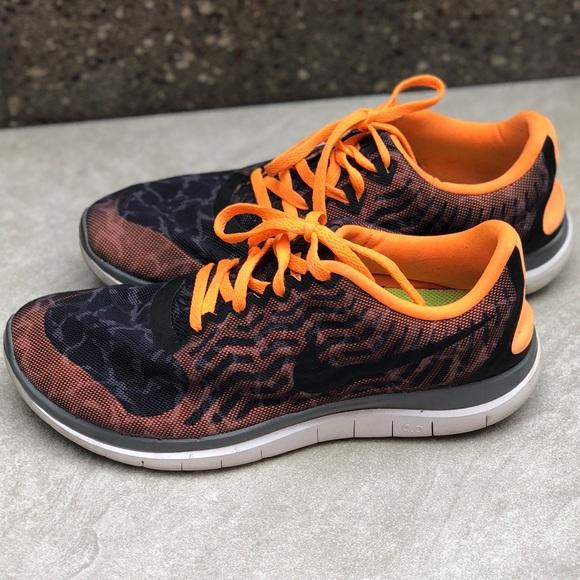 70601d85e9c Nike Free Run 4 - Orange and Black Design